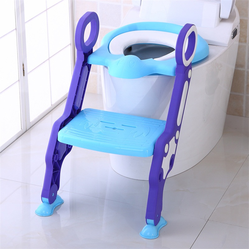 Infant Potty Chair Training Portable Safety Baby Step Ladder Folding Toilet Step Chair for Children Non-Slip Baby Step Ladder