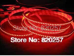 free shipping red color 5m reel 24v 3528 smd 240leds per meter  led strip lights single row indoor use