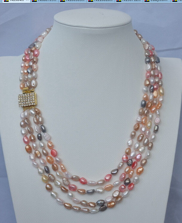 Multi Row Pearl Necklace: Online Get Cheap Multi Row Pearl Necklace -Aliexpress.com