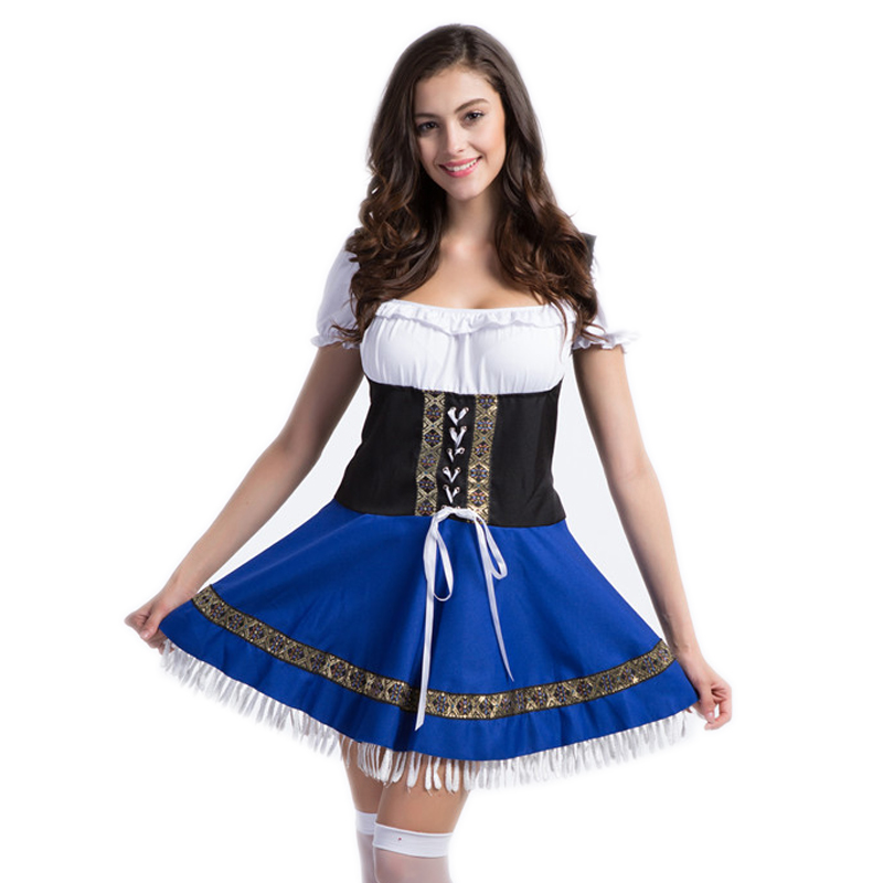 2017 Women Rushed Sexo Catsuit Halloween Carnival Adult Costume Oktoberfest Beer Girl Costumes For Girls Disfraces Size 2xl 3xl