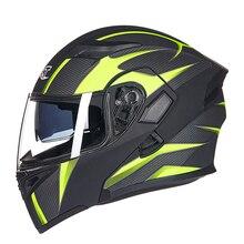 GXT dual lens aperto del motociclo del fronte casco full-copertura flip up caschi da moto wiht Anti-fog lente stagioni capacete