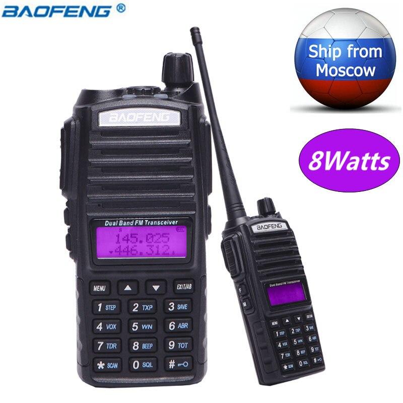 Baofeng UV-82 8 W 10 KM Longue Portée Puissante Talkie Walkie Portable CB vhf/uhf Radio bidirectionnelle Émetteur-Récepteur Amador 8 watts de BF UV82