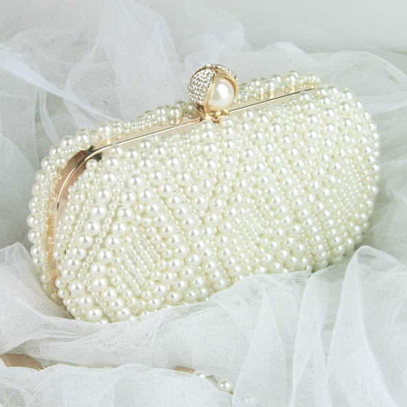 Online Shop Wedding Purse Embroidery Handmade Pearl Handbags Rhinestones Beaded  Wedding Bags Small Day Clutches Night Club Evening Bags  2b1e555823a4