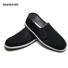 RGKWXYER New Breathable Men Casual Shoes Lazy Flats Male Female Old Beijing Cloth Shoes Wear Resistant Work Shoes Driver Shoes туфли old beijing cloth shoes 607