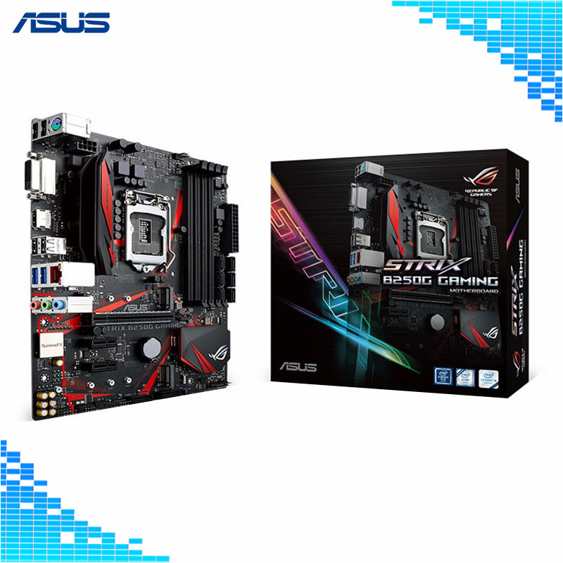Asus ROG STRIX B250G GAMING Motherboard Intel B250 socket LGA 1151 4*DDR4 DIMM Desktop Motherboard материнская плата asus strix b250f gaming lga 1151 intel b250 atx ret