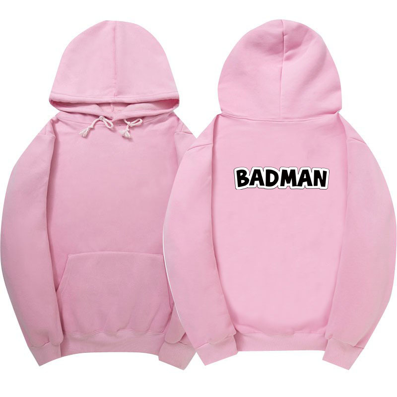 2017 New BADMAN Hoodies poleron hombre hip hop Streetwear sweatshirt men women pullover cotton Casual men