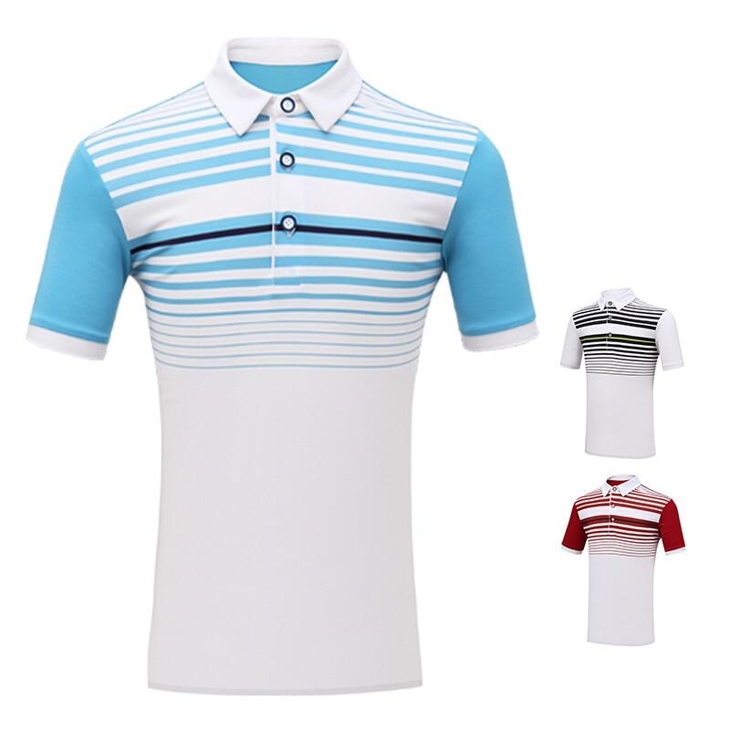 New Childrens Golf Clothes Boys Short Sleeve T-Shirt Golf Sports Tops Summer Apparel 2019 Boy tshirt Stripe