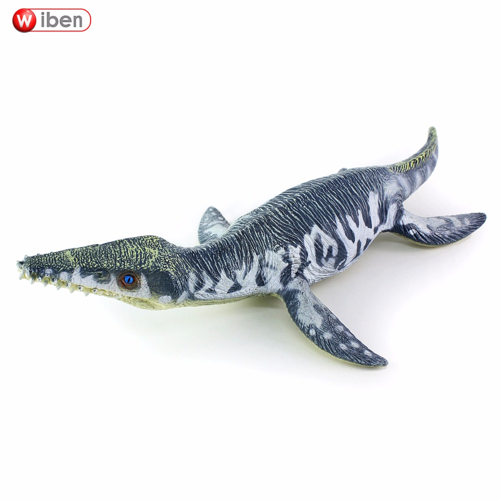 Sea Life Liopleurodon Dinosaur toy Soft PVC Action Figure Hand Painted Animal Model Collection Classic toys For Children Gift bwl 01 tyrannosaurus dinosaur skeleton model excavation archaeology toy kit white