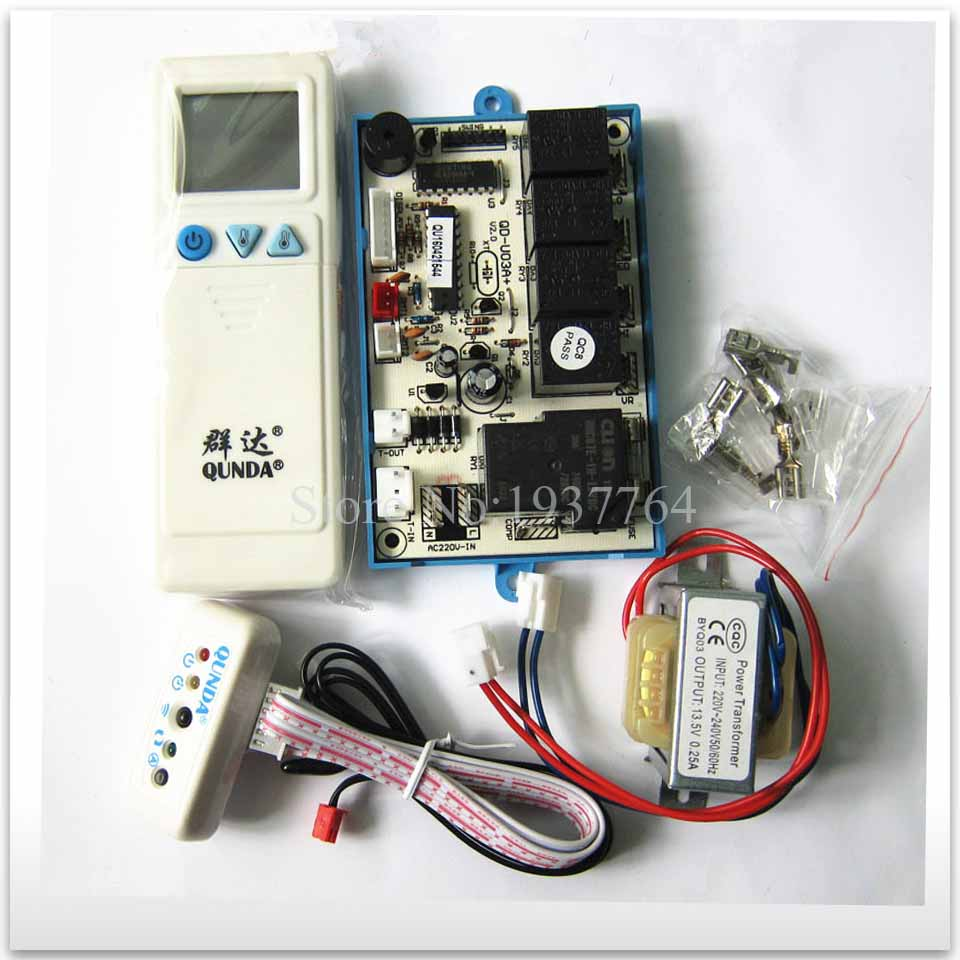 new for air conditioner general computer board double probe QD-U03A+ good working new air conditioner universal board qd u10a refit universal board computer board control board