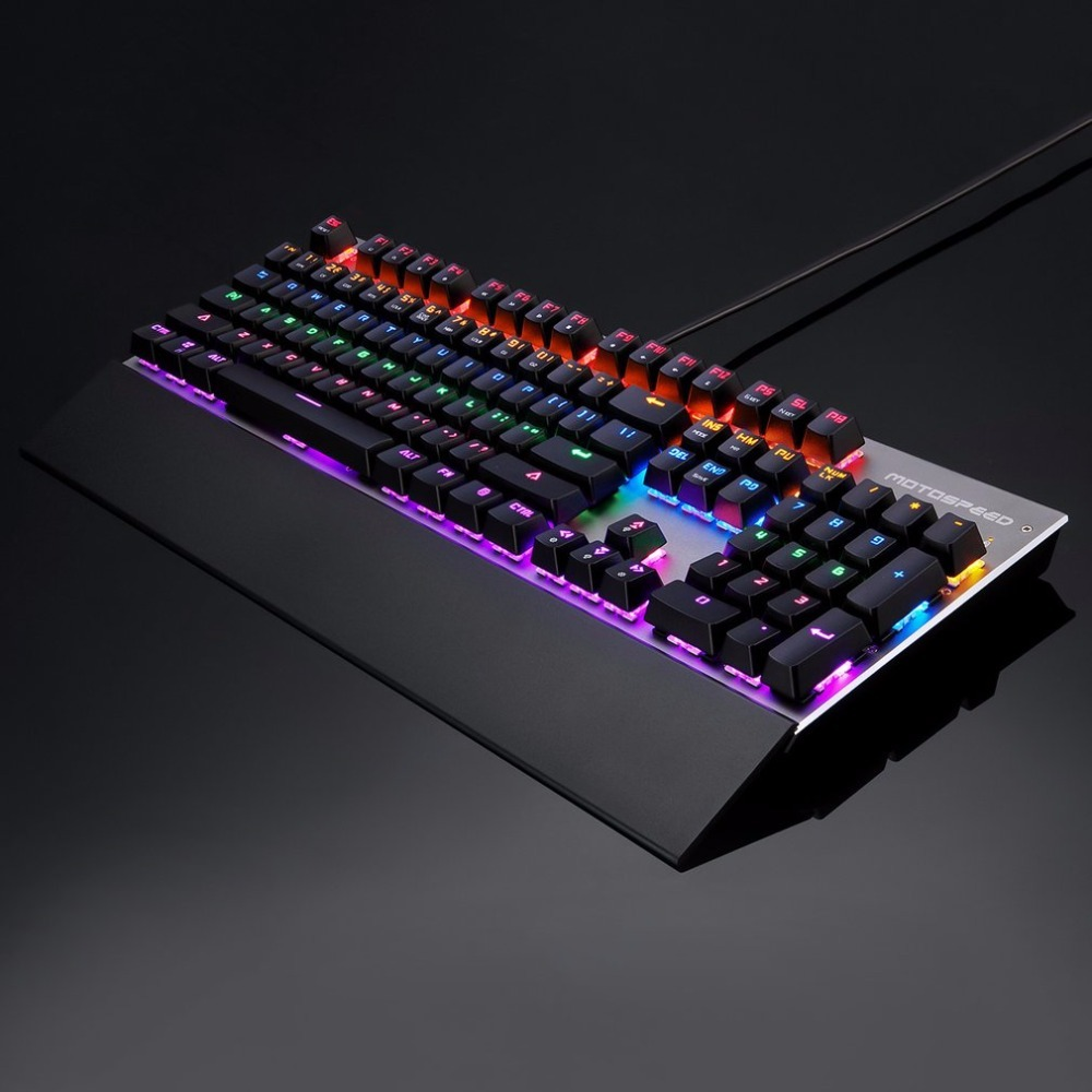 MOTOSPEED Original Keyclick Mechanical Keyboard RGB Color Gaming Keyboard USB Wired Keyboard For PC Laptop Desktop Free Shipping