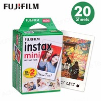 Fujifilm Instax Mini Película Borde Blanco 20 Hojas/Paquetes de Papel Fotográfico para Fuji cámara instantánea 8/7 s/25/50/90/sp-1/sp-2 con El Paquete