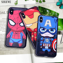 Cute cartoon spiderman Marvel Heros Case For iPhone XS Max X