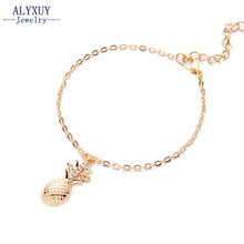 New fashion trendy foot jewelry Bohemia style cute crystal pineapple anklet gift for women girl AN14