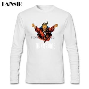 Image 4 - גברים חולצה O צוואר ארוך שרוול כותנה Thunderdome מוסיקה באיכות גבוהה T חולצה לגברים
