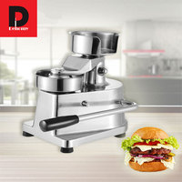 Dehomy Stainless Steel Manual Burger Press Machines Breakfast household pressure meat pie hamburger molding machine Durable