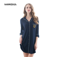 New Sexy Women's Sleepshirts Modal Temptation Ribbons Smooth Shirt Night Skirt Woman Nightgowns Sleep Ladies sleepwear shirt