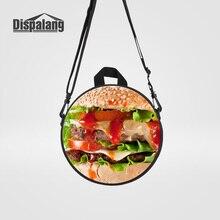 Dispalang 3D печать рюкзак с изображениями гамбургеров для маленьких мальчиков и девочек круглый Mochila Infantil детские маленькие школьные сумки рюкзак Rugtas