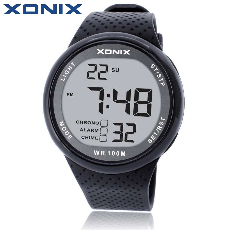 XONIX Fashion Men Sports Watches Waterproof 100m Outdoor Fun Digital Watch Swimming Diving Wristwatch