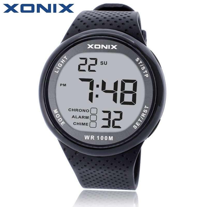 XONIX Mode Männer Sportuhren Wasserdichte 100 mt Outdoor Fun Digitaluhr Schwimmen Tauchen Armbanduhr Reloj Hombre Montre Homme