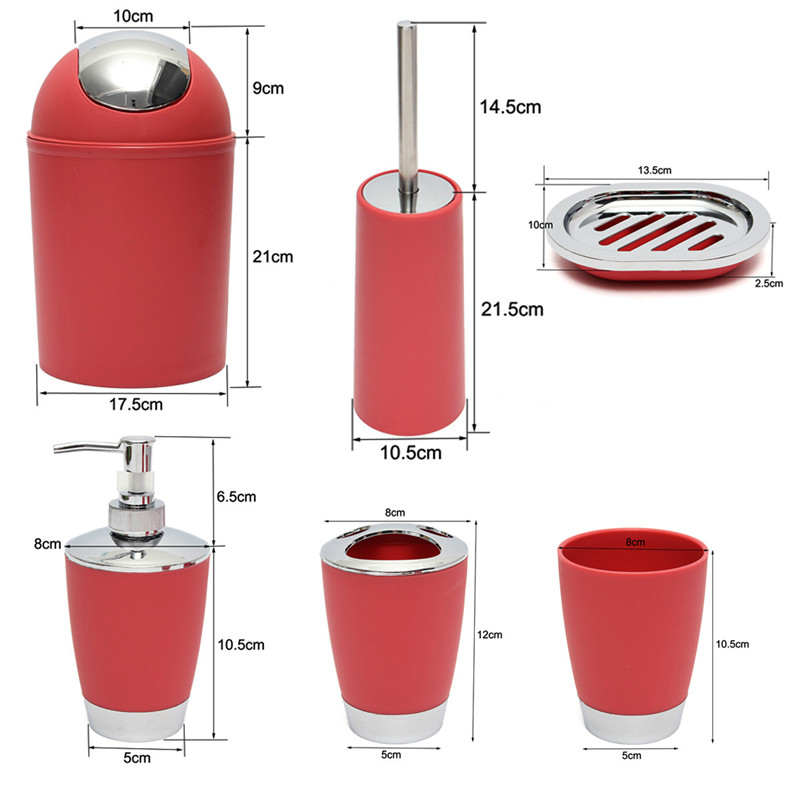 Online Get Cheap Red Bathroom Accessories Aliexpresscom - Red bathroom accessories sets