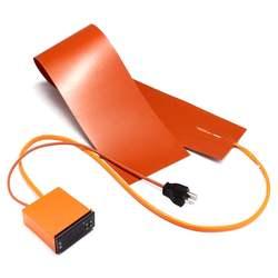 1200W Silikon Heizung Thermische Decke Gitarre Seite Biegen Heizung + Controller Elektrische Heizung Pads UNS Stecker 120V 152mm X 914mm