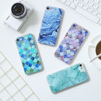 For 5S 5SE 6 6S 6plus Soft TPU Case New Arrival Granite Scrub Marble Phone Case