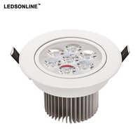 1 pacote de LED Downlight 5 W 7 W itens Branca desembolsar 450lm 630lm luzes para casa de Banho cozinha sala de estar iluminação frete grátis