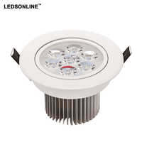 1 paquete LED Downlight 5 W 7 W 450lm 630lm artículos blanco shell luces para el hogar Baño sala de estar Cocina iluminación envío gratis