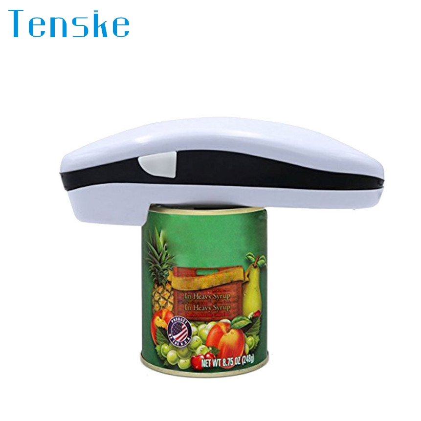 TENSKE Automatic Electric Can Opener Bottle Jar Bottle Opener Fit Any Szie Can Restaurant Kichen Tools Accessories 1024#&