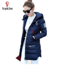 Winter  long down Jacket  2017 top quality pakas Women long sleeve hooded Parka Winter Plus Size  Lady hot Coats Christmas YY285
