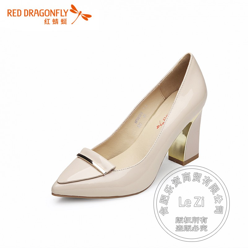 Pointy Dress font b Women b font Autumn Genuine Leather Shoes With Thick Soles Slip On