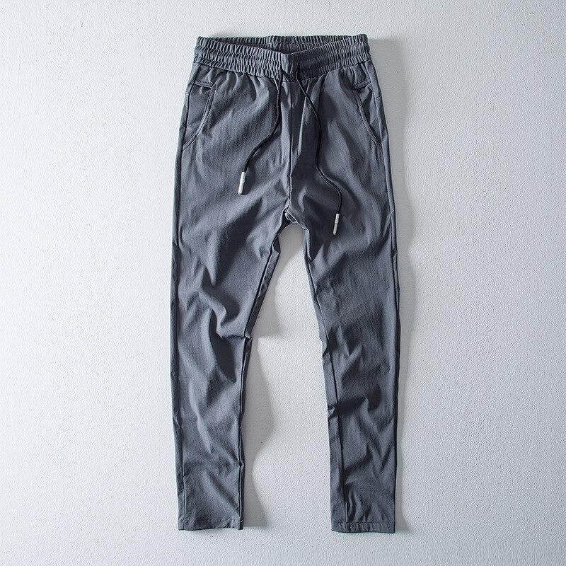 2018 Japan Style Mens Fashion Ankle-length Trousers Soft Comfortable Males Pants Pants Men Pantalon Homme Streetwear Pants Xxxl