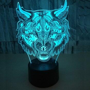 Pantera twarzy kolorowy dotykowy 3d lampka nocna lampka Usb 3d Led Stereo Vision lampy stołowe do oświetlenie do salonu Deco lampy biurko