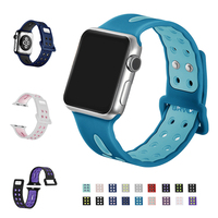 URVOI New Band For Apple Watch Series 1 2 Lightweight Breathable Silicone Sport Strap For IWatch