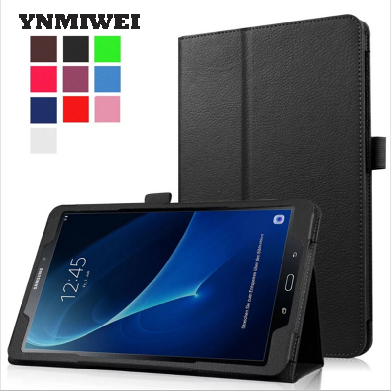 SM-T580N T585N Case Cover For Samsung Galaxy Tab A6 10.1 Inches T580 T585 Lichi Texture Magnet Closure Flip Cover Shell YNMIWEI аксессуар чехол samsung galaxy tab a 7 sm t285 sm t280 it baggage мультистенд black itssgta74 1