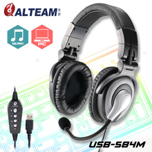 Best Pro USB 7.1 Surround Sound Stereo Bass Game Gamer Gaming Headset Headphone with Microphone Volume Control for PC Computer