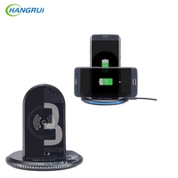 Hangrui New Arrival Fast Qi Wireless Charger Powder Wireless Charging Dock For IPhone 8 X For