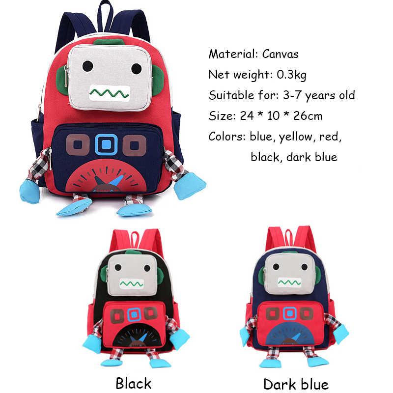 ... Cartoon 3D Robot Shape Kid Backpacks Baby Child Cute Toddler School  Travel Bag Kindergarten Cool Boys ... fc739550d2469