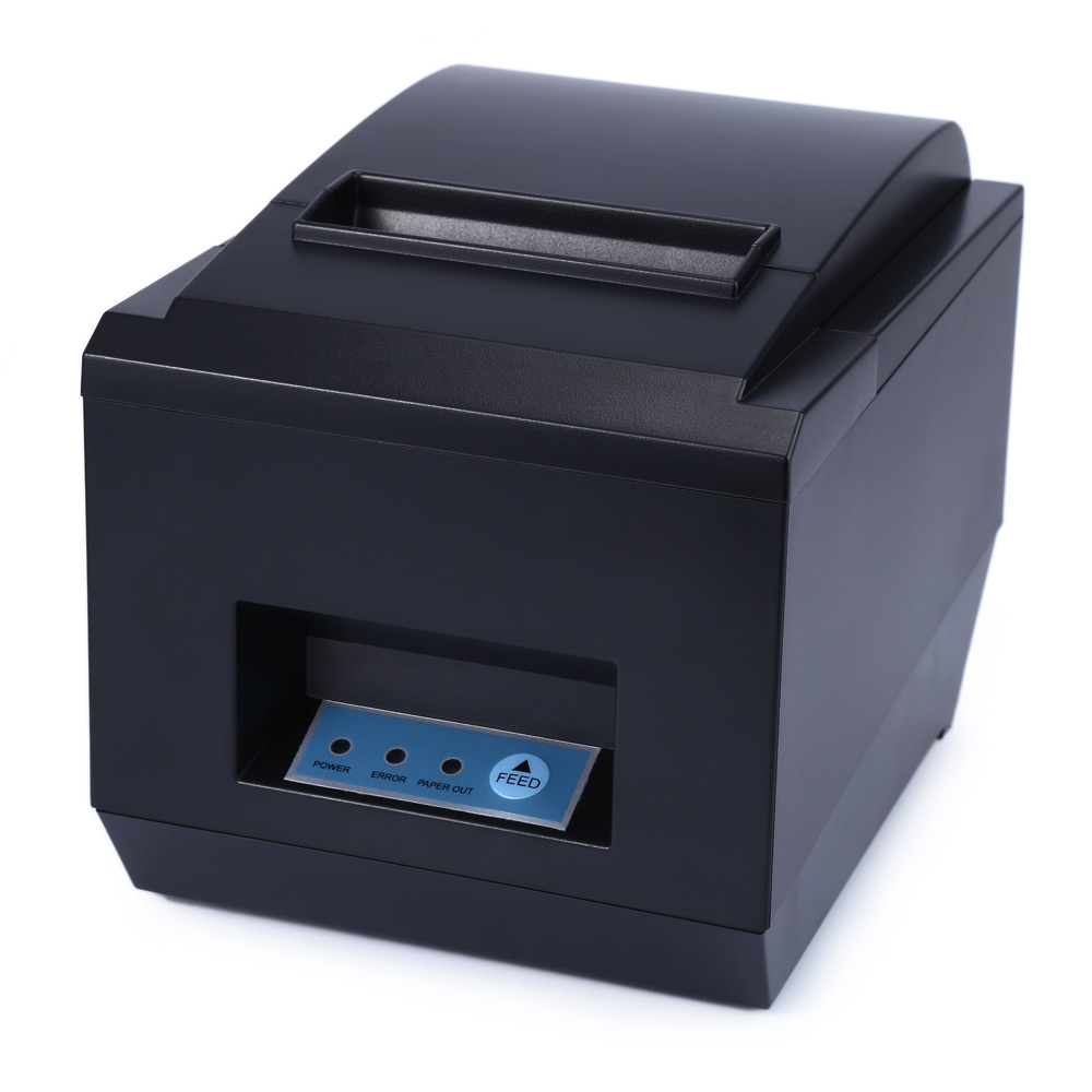 8250 POS Receipt Thermal Printer with 80mm Paper Rolls High speed Printing EU US Plug