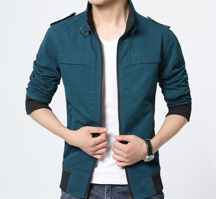 Ceket Erkekler Yeni Sonbahar Kış Arıtılmış Pamuk Moda Marka - Erkek Giyim - Fotoğraf 5