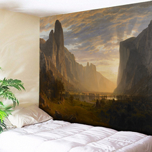 Psychedelic Mountain Painting Fantasy Abstract Tapestry Wall Hanging Hippie Home Decorations Flower Blanket Cloth