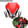 Красные двойные спортивные фары для мотокросса  Светодиодный Боковой индикатор для Honda CRM CRF XR CR 150 110 250 450