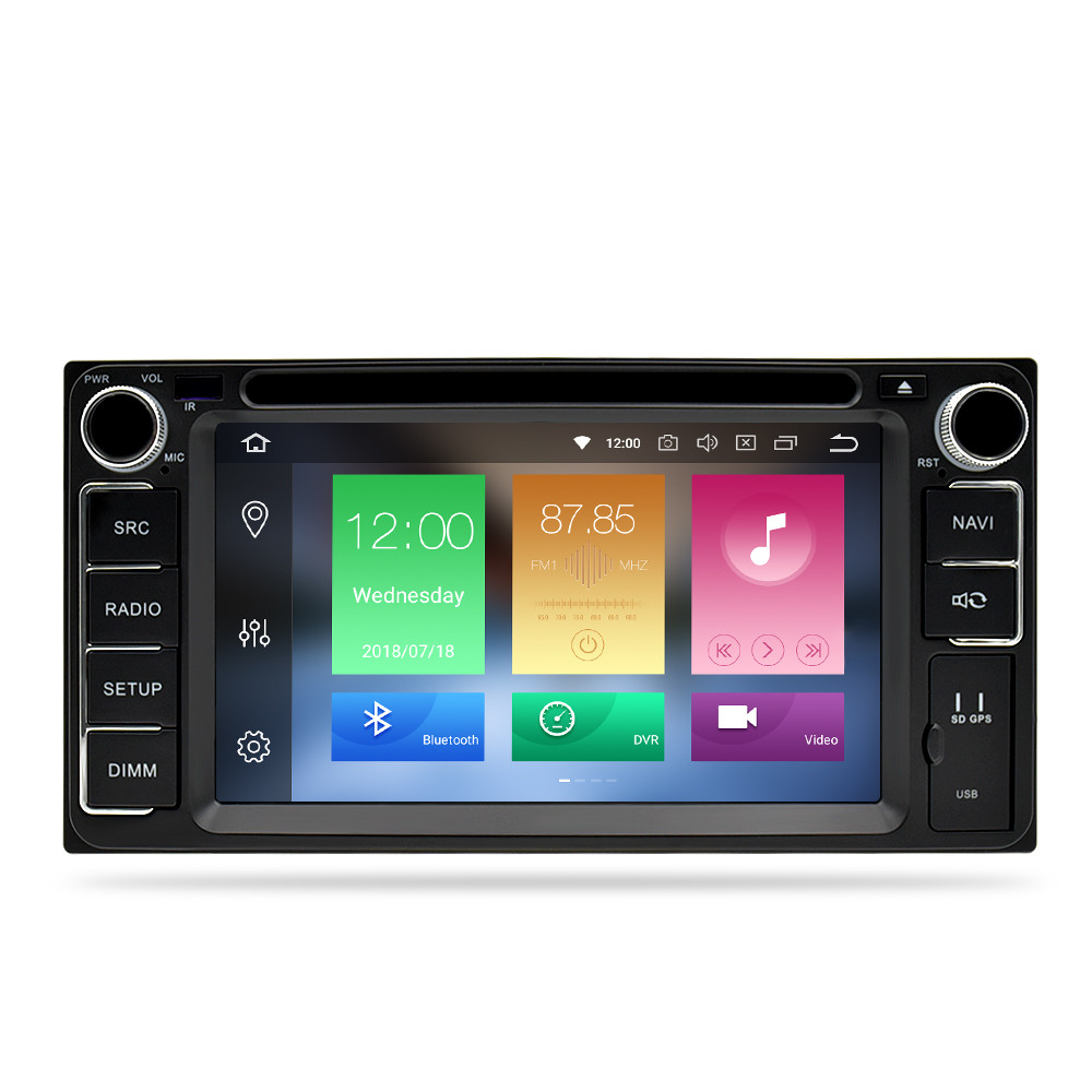 Image 2 - Universal Android 9.0 DVD GPS Navigation Radio Video Player Stereo 4G RAM+32G ROM 2 Din Wifi Bluetooth headunit Car Multimedia-in Car Multimedia Player from Automobiles & Motorcycles