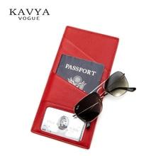 KAVYAVOGUE коштовні паспорти володарів Geuine шкіра паспорт обкладинки RFID туру документ Обкладинка США Паспорт ID Card Case Holder