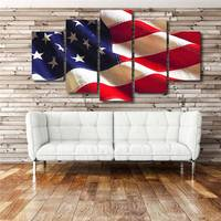 5 Panels Hd Printed America National Flag Wall Art Painting Canvas Print Room Decor Print Poster Picture Canvas P0422 vendor