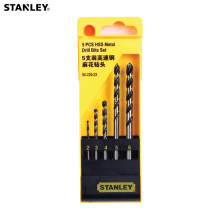 цена на Stanley 5pcs high speed steel drill bits 2mm 3mm 4mm 5mm 6mm mini metric HSS twist drill bit for concrete wood glass PVC metal