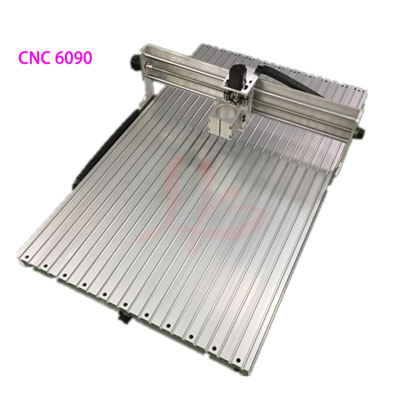 CNC Router 6090 Frame Kit 1605 Ball Screw CNC Engraving Machine Body 65mm 80mm Spindle Motor Clamp