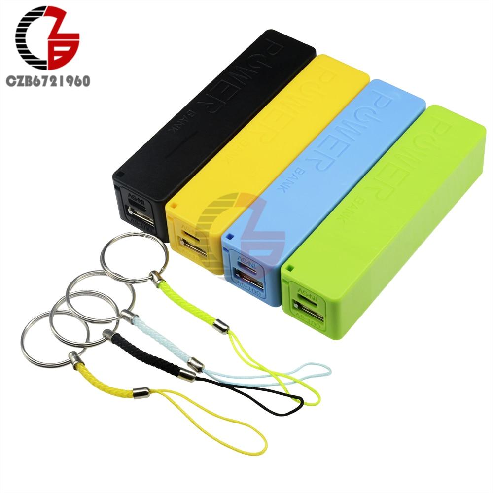 Blue Green Black Yellow DIY Power Bank 18650 Battery Case USB Power Bank Case Kit 18650 Battery Charger DIY Box