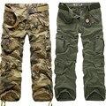 2016 Nueva Táctica de Carga Pantalones de Camuflaje Militar de Los Hombres de alta calidad Impreso Male ejército Pantalones Rectos de Los Guardapolvos Ocasionales 28 ~ 40