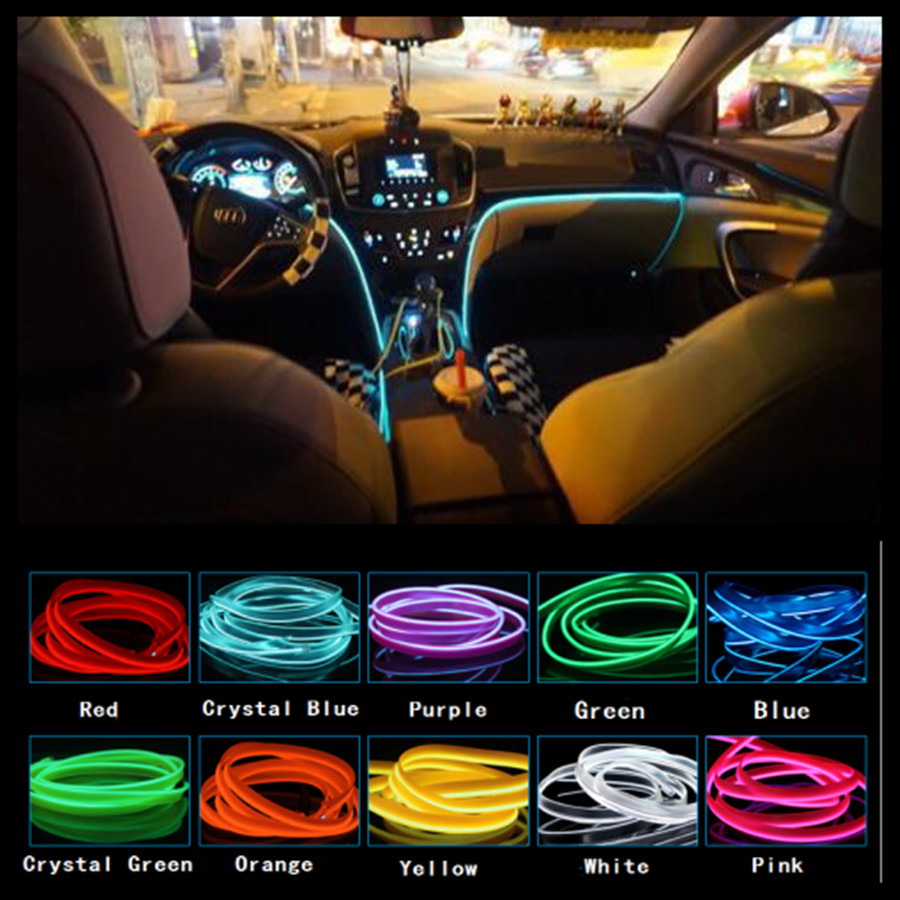 diy ambient lighting. jingxiangfeng 5m car decorative lights driving at night ambient light el cold line diy diy lighting